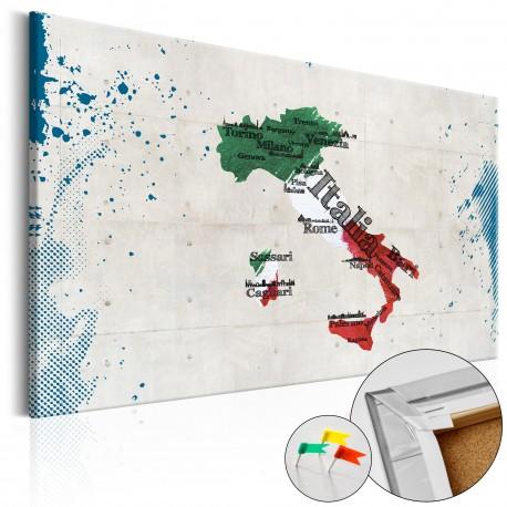 Obraz na korku  Włochy [Mapa korkowa]