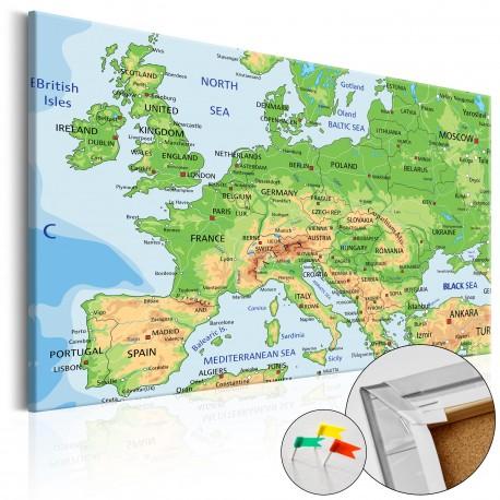Obraz na korku  Europa [Mapa korkowa]