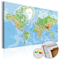 Obraz na korku  Geografia świata [Mapa korkowa]
