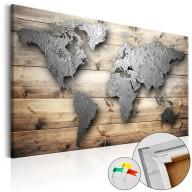 Obraz na korku  Srebrny świat [Mapa korkowa]
