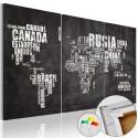 Obraz na korku - El Mundo [Mapa korkowa]