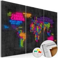 Obraz na korku  Mappa del Mondo [Mapa korkowa]
