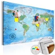 Obraz na korku  Tradycyjna kartografia [Mapa korkowa]