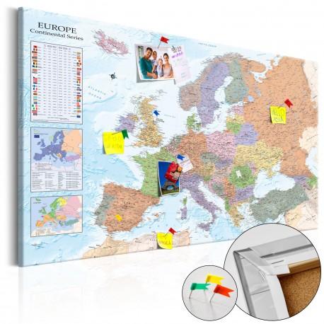 Obraz na korku  Mapy świata Europa [Mapa korkowa]