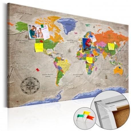 Obraz na korku  Mapa świata Styl retro [Mapa korkowa]
