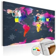 Obraz na korku - Kolorowe kryształy [Mapa korkowa]