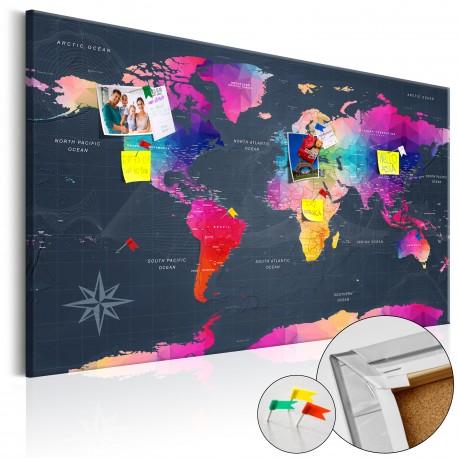 Obraz na korku  Kolorowe kryształy [Mapa korkowa]