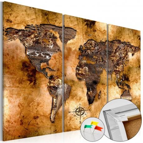 Obraz na korku  Odcień złota [Mapa korkowa]