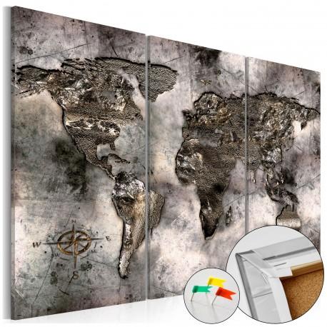 Obraz na korku  Opalizująca mapa [Mapa korkowa]