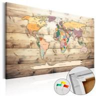 Obraz na korku  Świat na wyciągnięcie ręki [Mapa korkowa]