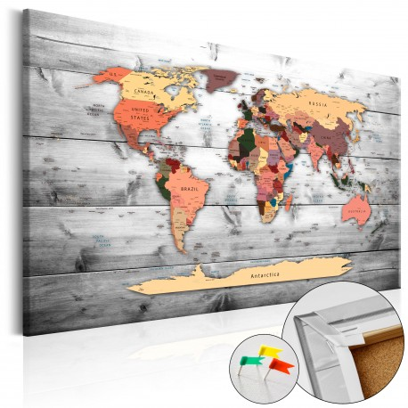 Obraz na korku  Kierunek świat [Mapa korkowa]