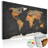 Obraz na korku  Tajemnice Ziemi [Mapa korkowa]