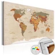 Obraz na korku  Beżowy szyk [Mapa korkowa]