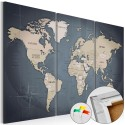 Obraz na korku - Antracytowy świat [Mapa korkowa]