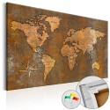 Obraz na korku - Rdzawy świat [Mapa korkowa]