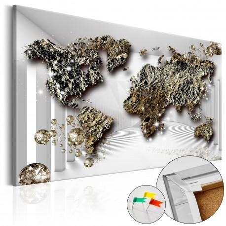 Obraz na korku  Złota przyszłość [Mapa korkowa]