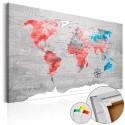 Obraz na korku - Czerwona wędrówka [Mapa korkowa]