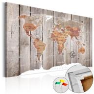 Obraz na korku  Drewniane historie [Mapa korkowa]