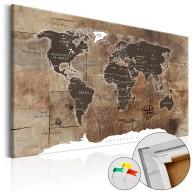 Obraz na korku  Drewniana mozaika [Mapa korkowa]