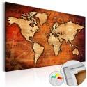 Obraz na korku - Bursztynowy świat [Mapa korkowa]