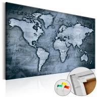 Obraz na korku  Szafirowy świat [Mapa korkowa]