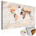 Obraz na korku - Kamienne oceany [Mapa korkowa]