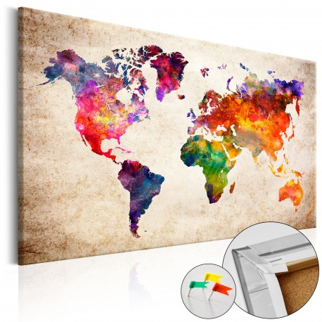 Obraz na korku  Kolorowe uniwersum  [Mapa korkowa]