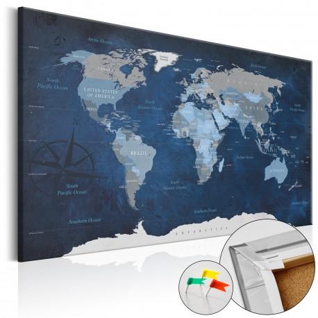 Obraz na korku  Granatowy świat [Mapa korkowa]