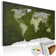 Obraz na korku  Malachitowy świat [Mapa korkowa]