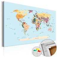 Obraz na korku  Podróżuj ze mną [Mapa korkowa]