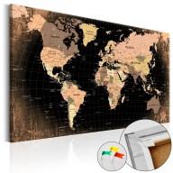 Obraz na korku  Kraina Ziemia [Mapa korkowa]