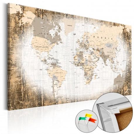 Obraz na korku  Enklawa świata [Mapa korkowa]