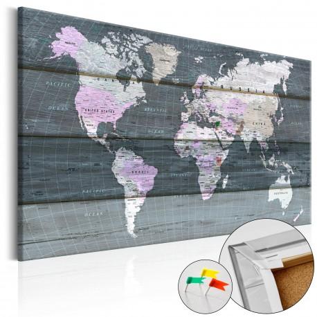 Obraz na korku  Wędrówka przez świat [Mapa korkowa]