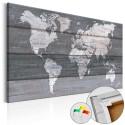 Obraz na korku - Szara Ziemia [Mapa korkowa]