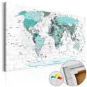 Obraz na korku - Błękitna granica [Mapa korkowa]