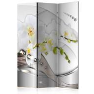 Parawan 3częściowy  Perłowy taniec orchidei [Room Dividers]