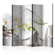 Parawan 5częściowy  Perłowy taniec orchidei II [Room Dividers]
