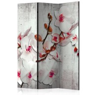 Parawan 3częściowy  Betonowa orchidea [Room Dividers]