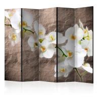 Parawan 5częściowy  Nieskazitelność orchidei II [Room Dividers]