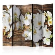 Parawan 5częściowy  Leśna orchidea II [Room Dividers]