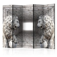 Parawan 5częściowy  Kamienne lwy II [Room Dividers]