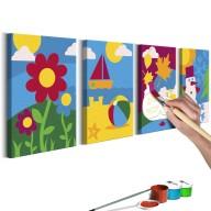 Obraz do samodzielnego malowania  Pory roku