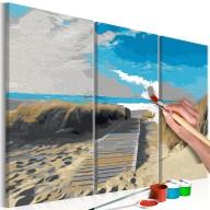 Obraz do samodzielnego malowania  Plaża (błękitne niebo)