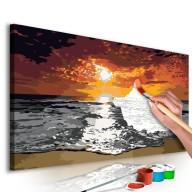 Obraz do samodzielnego malowania  Morze (niebo w płomieniach)