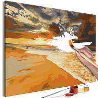 Obraz do samodzielnego malowania  Złota plaża