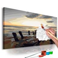 Obraz do samodzielnego malowania  Plaża (wschód słońca)