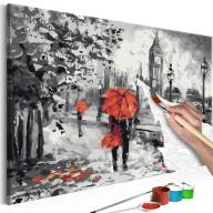 Obraz do samodzielnego malowania  Zakochani w Londynie