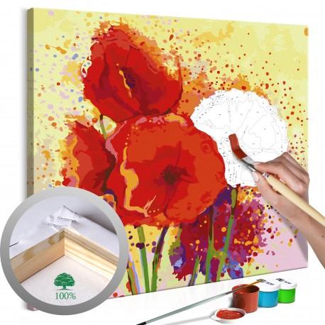 Obraz do samodzielnego malowania  Nowoczesne maki