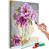 Obraz do samodzielnego malowania  Kwiaty w wazonie