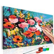 Obraz do samodzielnego malowania  Kolorowe kwiaty polne